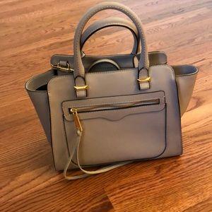 Light Grey/Purple Rebecca Minkoff bag